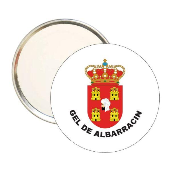 espejo redondo escudo heraldico gel de albarracin