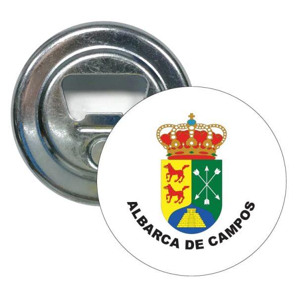 abridor redondo escudo heraldico albarca de campos