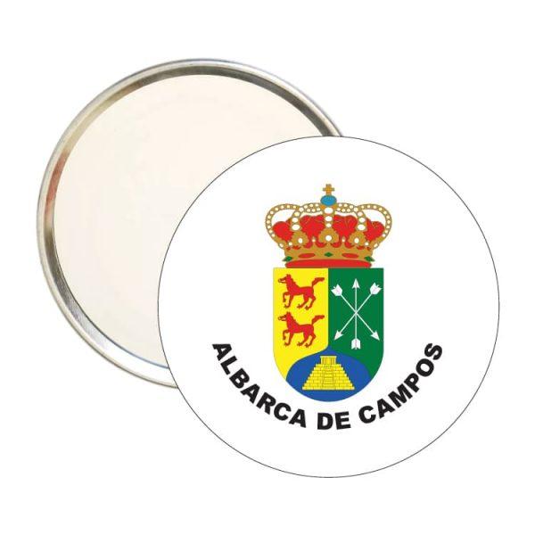 espejo redondo escudo heraldico albarca de campos