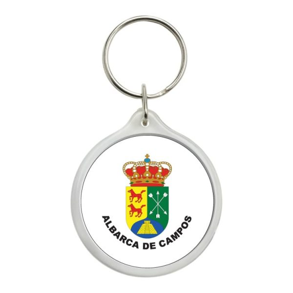 llavero redondo escudo heraldico albarca de campos