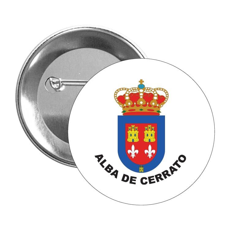 1006 chapa escudo heraldico alba de cerrato