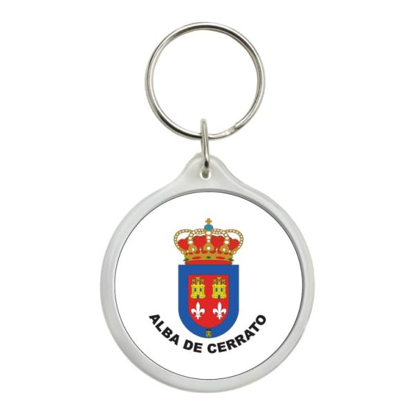 llavero redondo escudo heraldico alba de cerrato