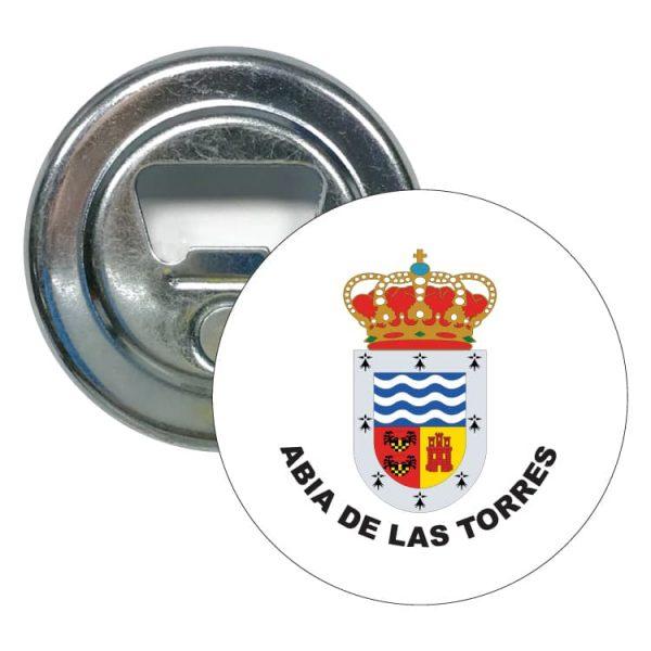 abridor redondo escudo heraldico abia de las torres