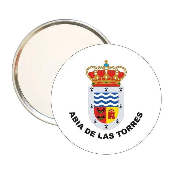 espejo redondo escudo heraldico abia de las torres
