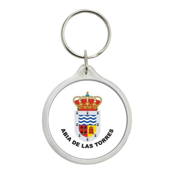 llavero redondo escudo heraldico abia de las torres