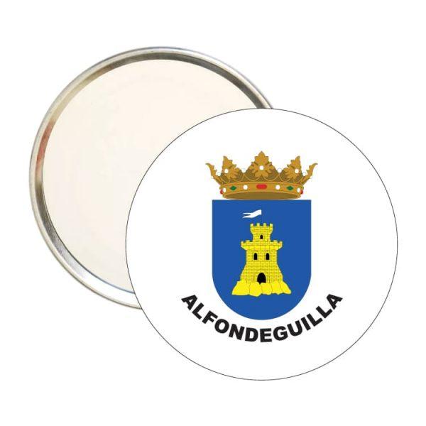 espejo redondo escudo heraldico alfondeguilla
