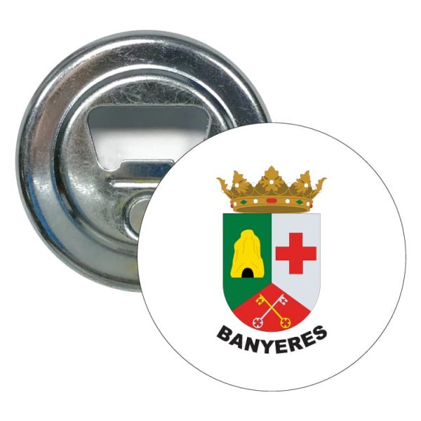 abridor redondo escudo heraldico banyeres