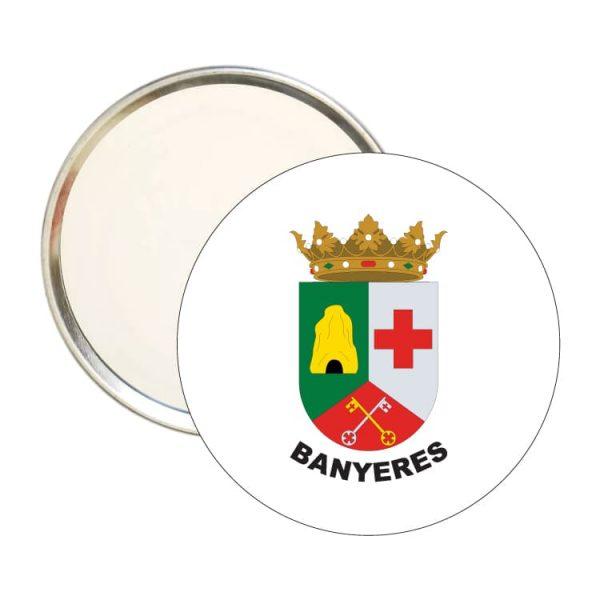 espejo redondo escudo heraldico banyeres