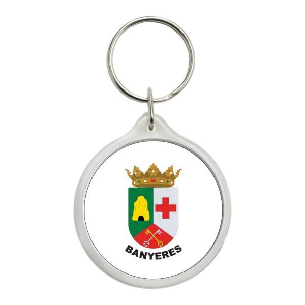 llavero redondo escudo heraldico banyeres