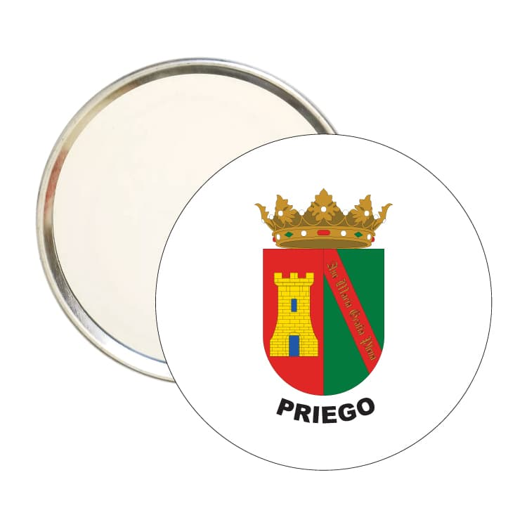 espejo redondo escudo heraldico priego