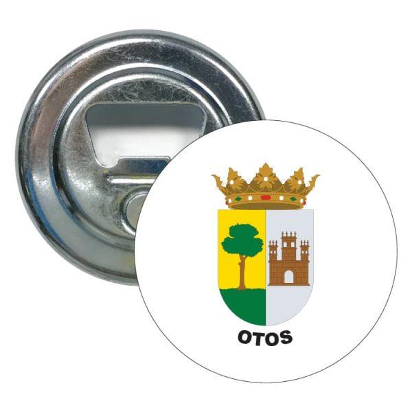 abridor redondo escudo heraldico otos