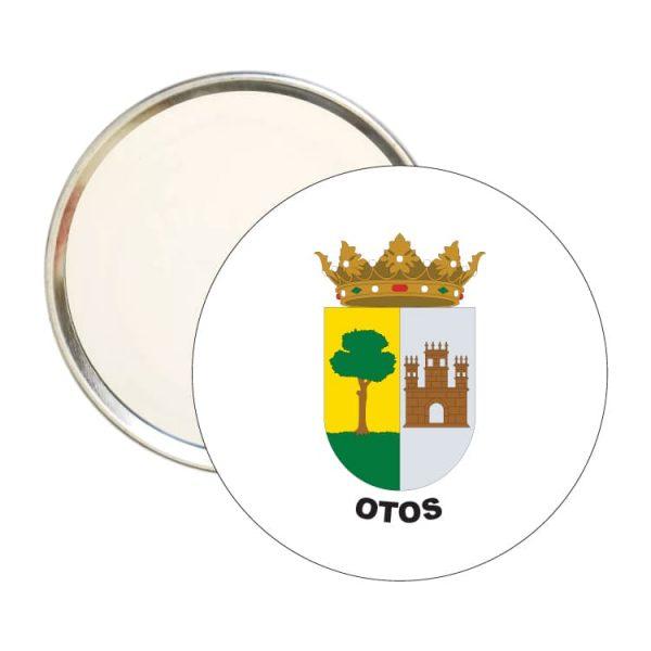 espejo redondo escudo heraldico otos