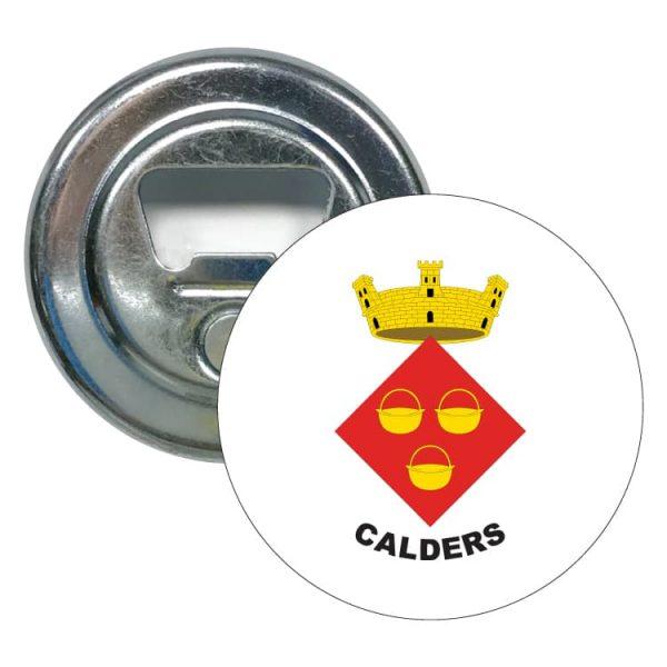 abridor redondo escudo heraldico calders