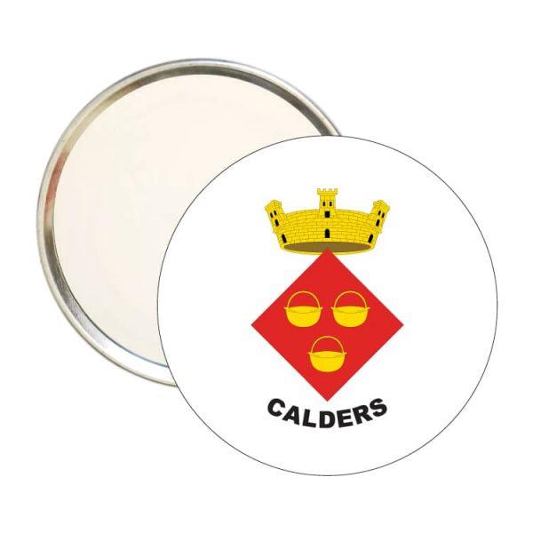 espejo redondo escudo heraldico calders