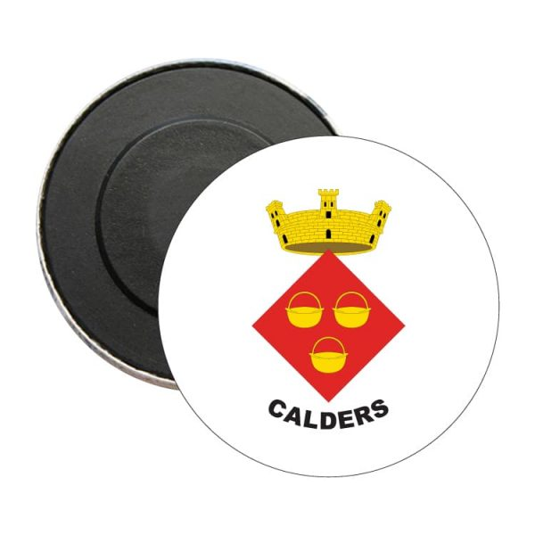 iman redondo escudo heraldico calders