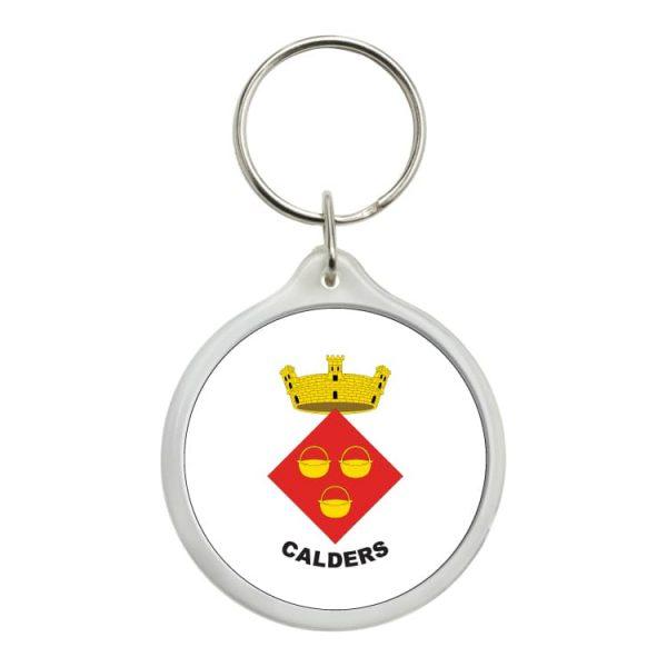 llavero redondo escudo heraldico calders