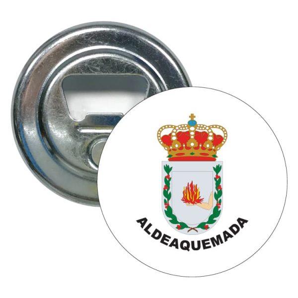 abridor redondo escudo heraldico aldeaquemada
