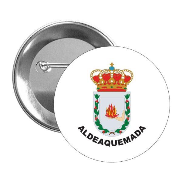 chapa escudo heraldico aldeaquemada