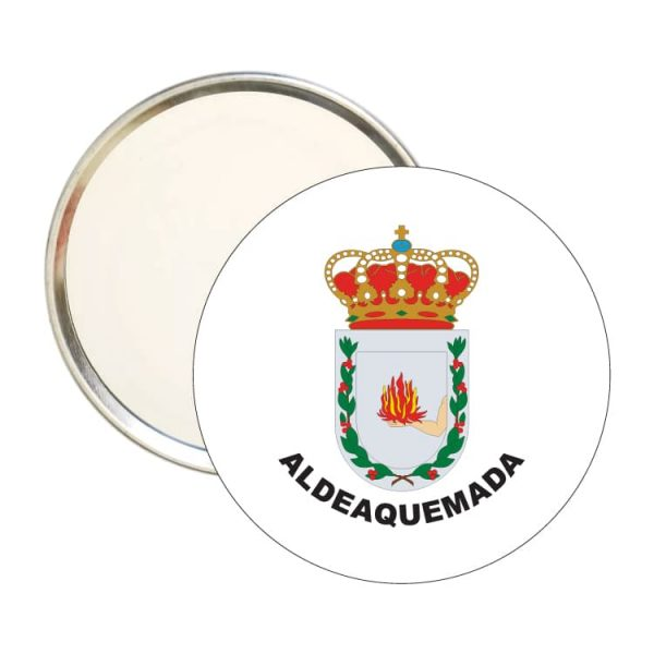 espejo redondo escudo heraldico aldeaquemada