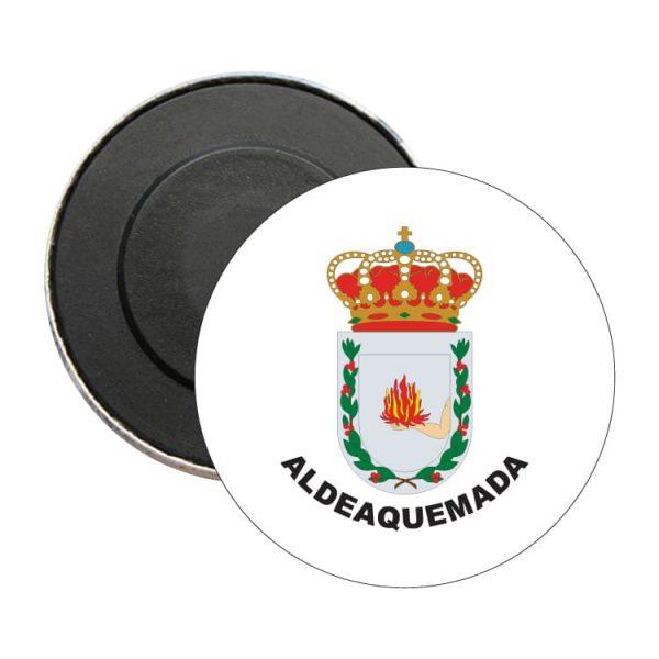 iman redondo escudo heraldico aldeaquemada