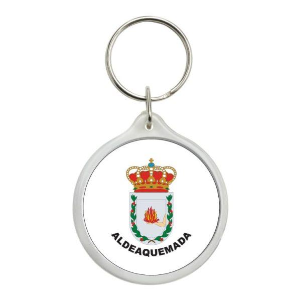 llavero redondo escudo heraldico aldeaquemada