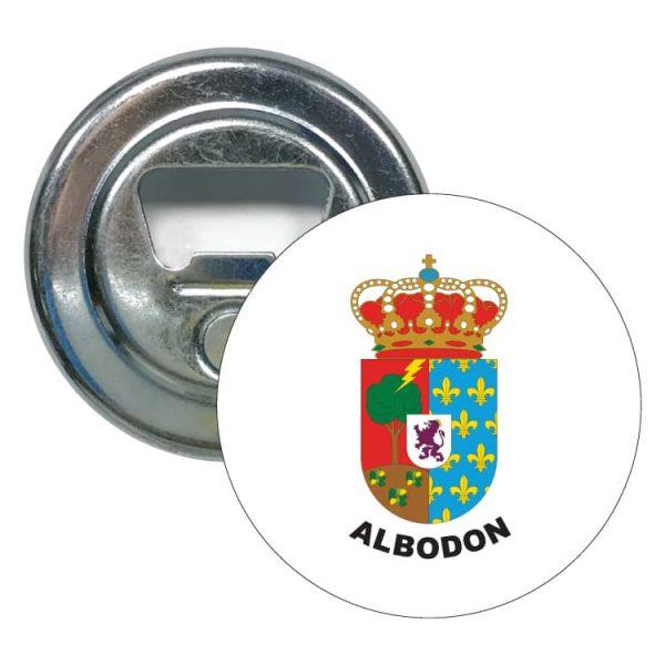 abridor redondo escudo heraldico albodon