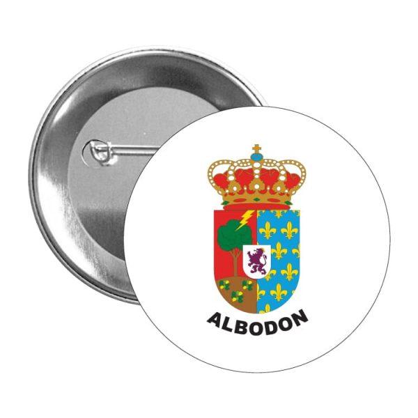 chapa escudo heraldico albodon