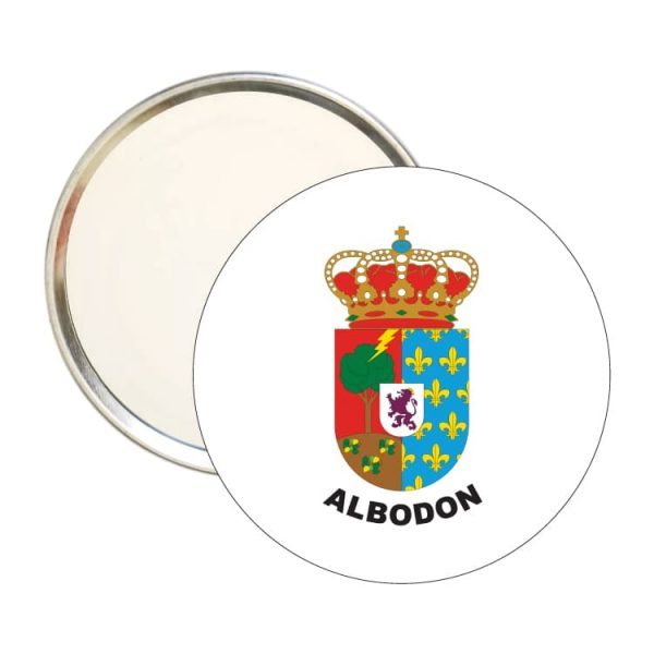 espejo redondo escudo heraldico albodon