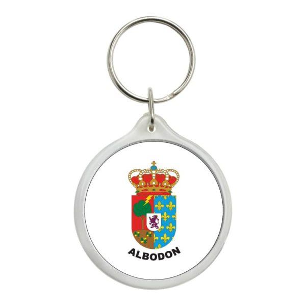 llavero redondo escudo heraldico albodon