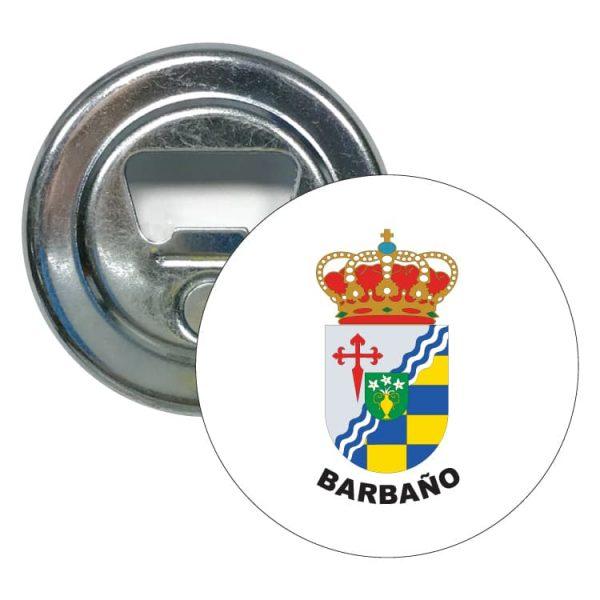 abridor redondo escudo heraldico barbano