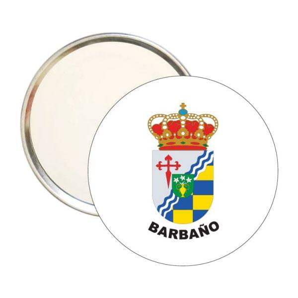 espejo redondo escudo heraldico barbano