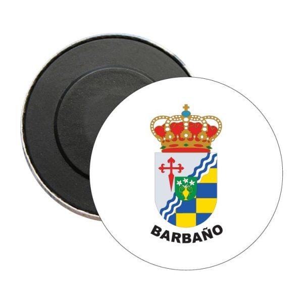 iman redondo escudo heraldico barbano