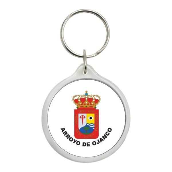 llavero redondo escudo heraldico arroyo de ojanco