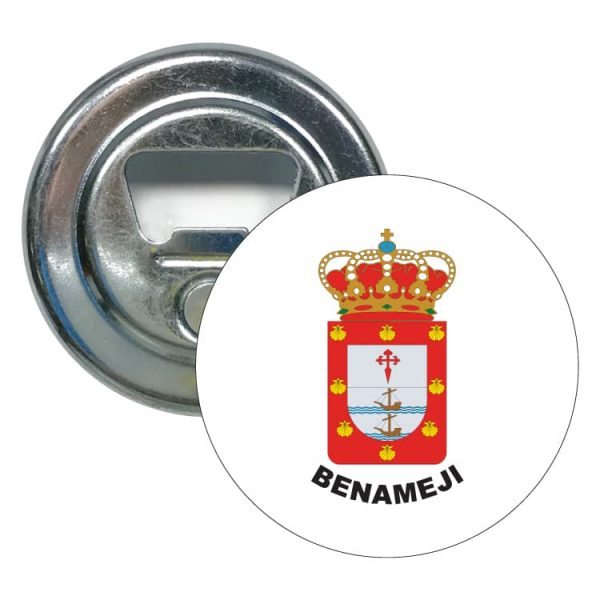 abridor redondo escudo heraldico benameji