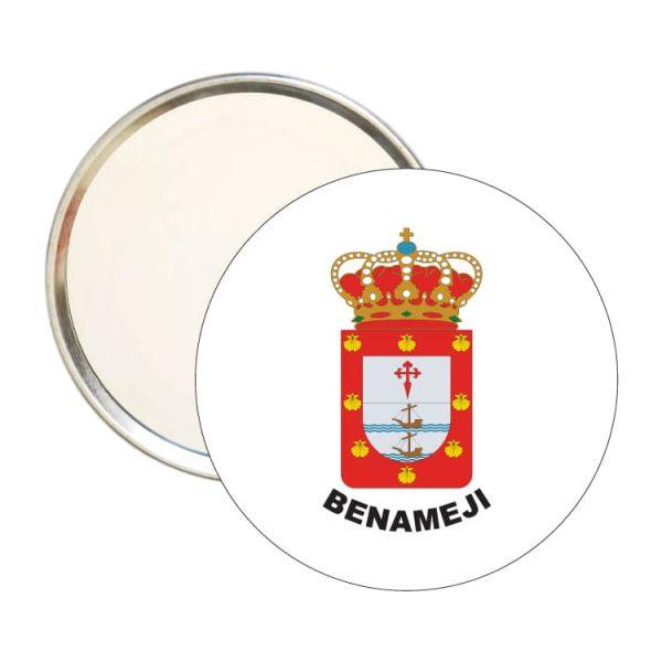 espejo redondo escudo heraldico benameji