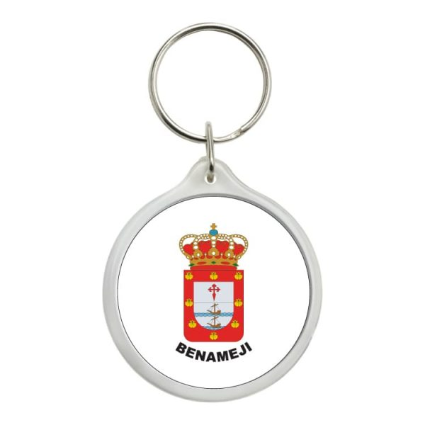 llavero redondo escudo heraldico benameji