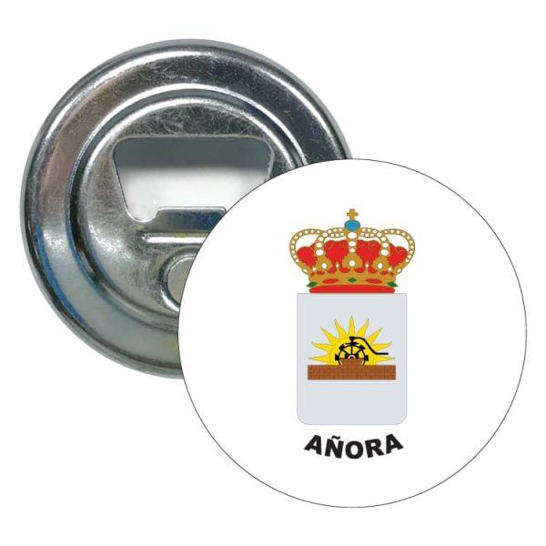 abridor redondo escudo heraldico anora
