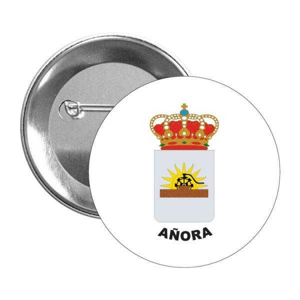 chapa escudo heraldico anora