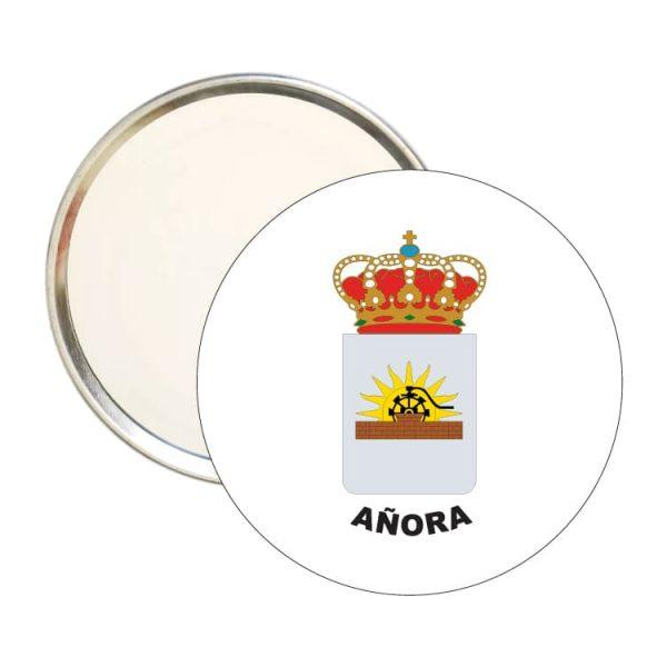 espejo redondo escudo heraldico anora