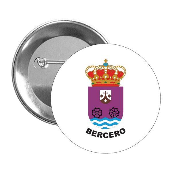 chapa escudo heraldico bercero
