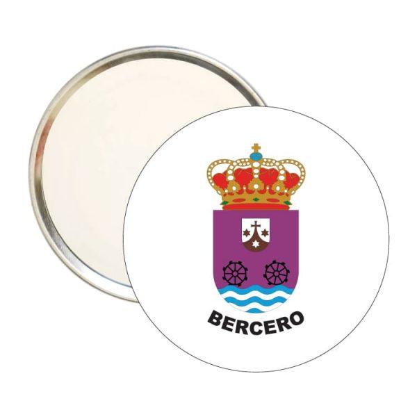 espejo redondo escudo heraldico bercero