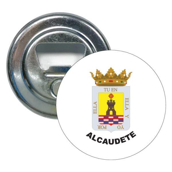 abridor redondo escudo heraldico alcaudete