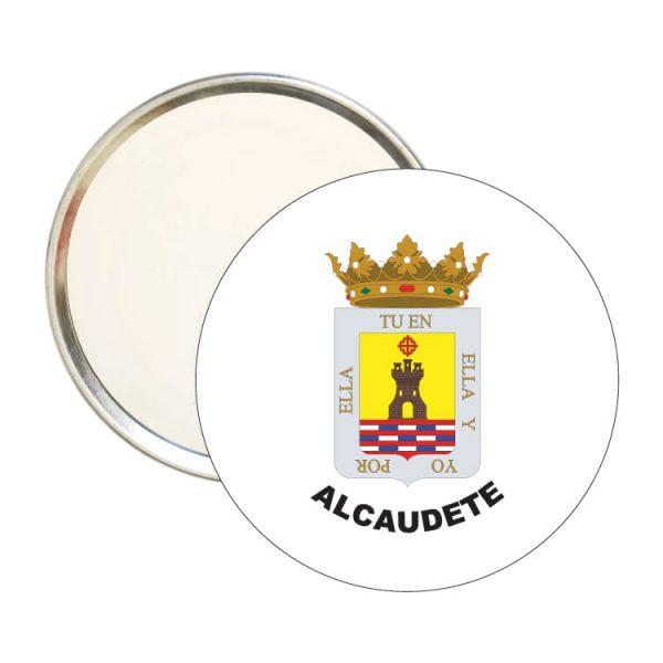 espejo redondo escudo heraldico alcaudete