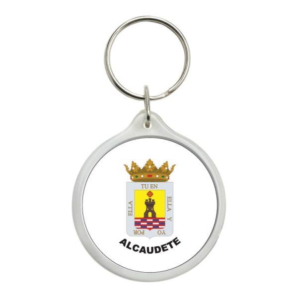llavero redondo escudo heraldico alcaudete