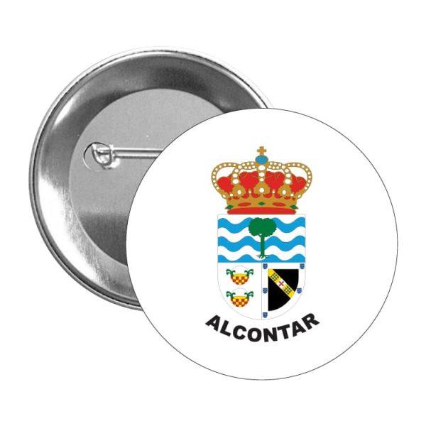 chapa escudo heraldico alcontar