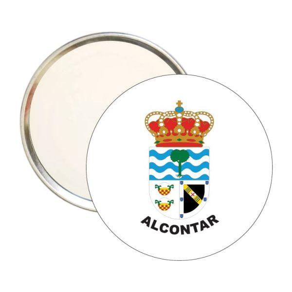 espejo redondo escudo heraldico alcontar
