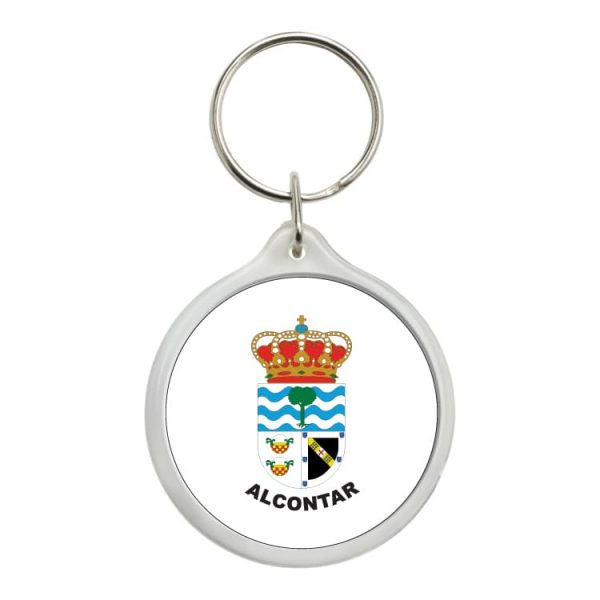 llavero redondo escudo heraldico alcontar