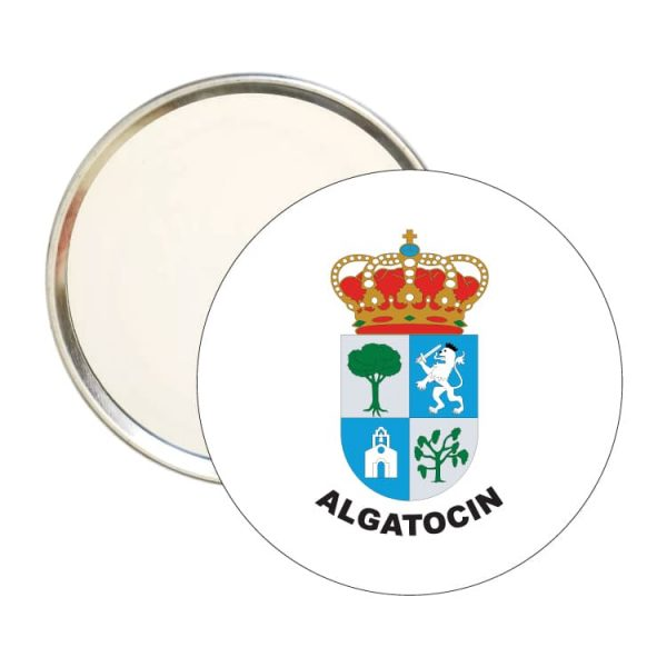 espejo redondo escudo heraldico algatocin