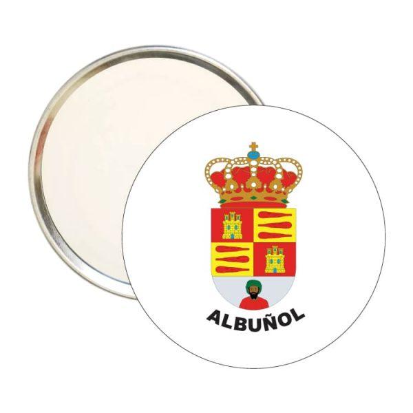 espejo redondo escudo heraldico albunol