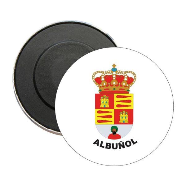 iman redondo escudo heraldico albunol